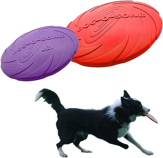 Legendog Dog Flying Disc, Pack 2 Juguete del Disco Volador Juguete Flotante del Perro del Colector del Perro para La Masticación: Amazon.es: Productos para mascotas