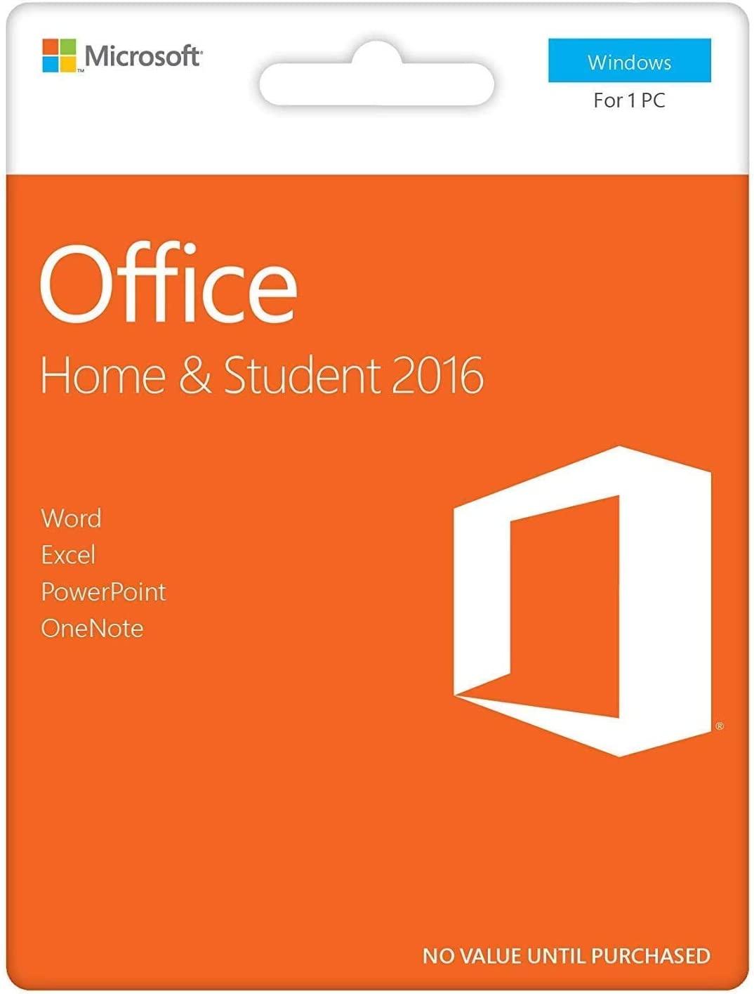 Office 2016 Home and Student | Lifetime - Product Key Card | Word, Excel, PowerPoint, OneNote