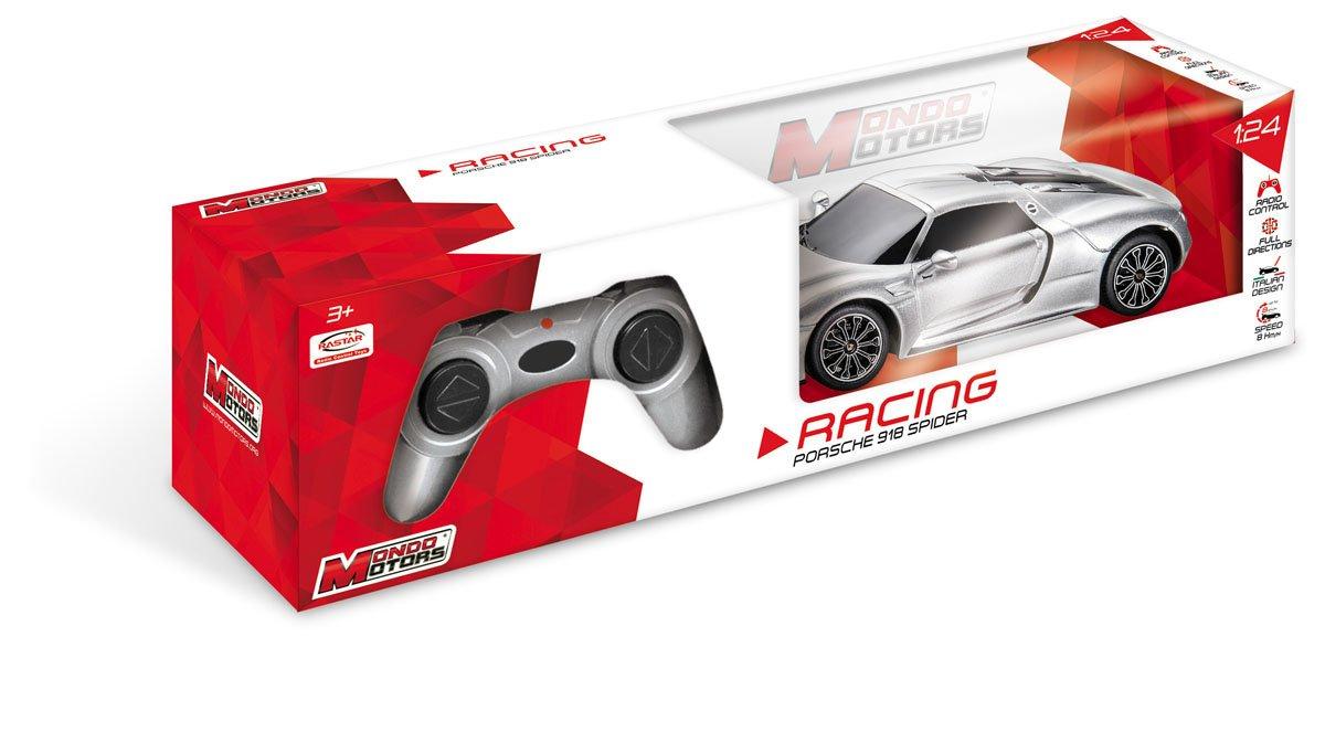 Mondo Porsche 918 Spider Veicolo Radiocomandato, Colore Giallo/Grigio, Scala 1:24, 63304 Mondo S.P.A. SUPER24