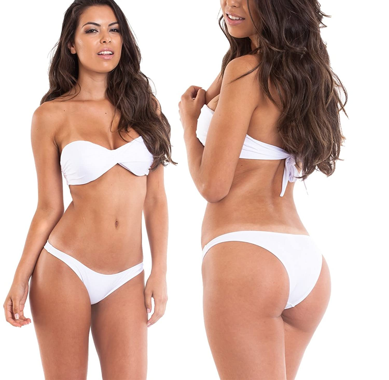 White Brazilian Bikini