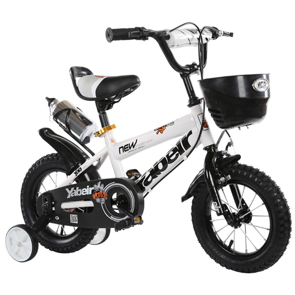 美しい 家チャイルドフォールド自転車3-6-8歳のベビーベビーカー12インチ14インチ16インチ18インチバイク (色 : 白, サイズ さいず : 12Inch) B07CXGRKPN 12Inch|白 白 12Inch
