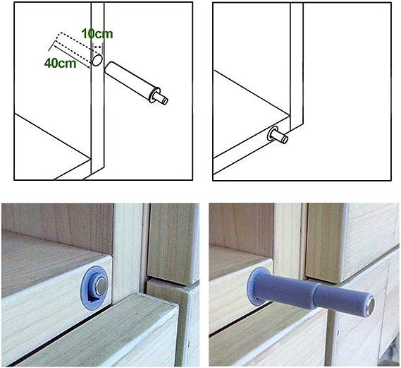 DECARETA - Juego de 10 piezas de cierre magnético con sistema de apertura a presión para puertas y cajones: Amazon.es: Bricolaje y herramientas