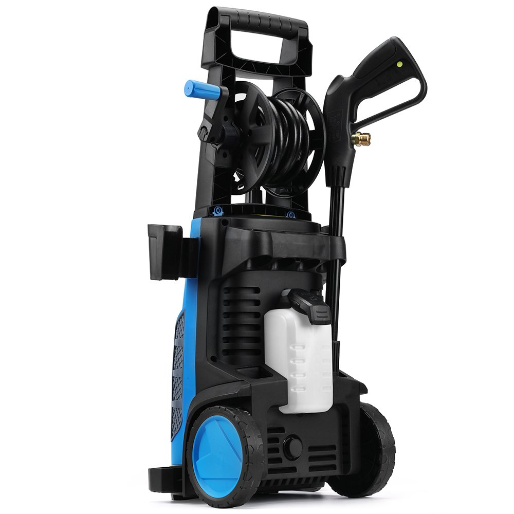SUNGOLDPOWER Electric High Pressure Washer Max 2400PSI 1.76 GPM with (5) Nozzle Adapter with Hose Reel Soap Dispenser Patio Cleaner by SUNGOLDPOWER (Image #4)