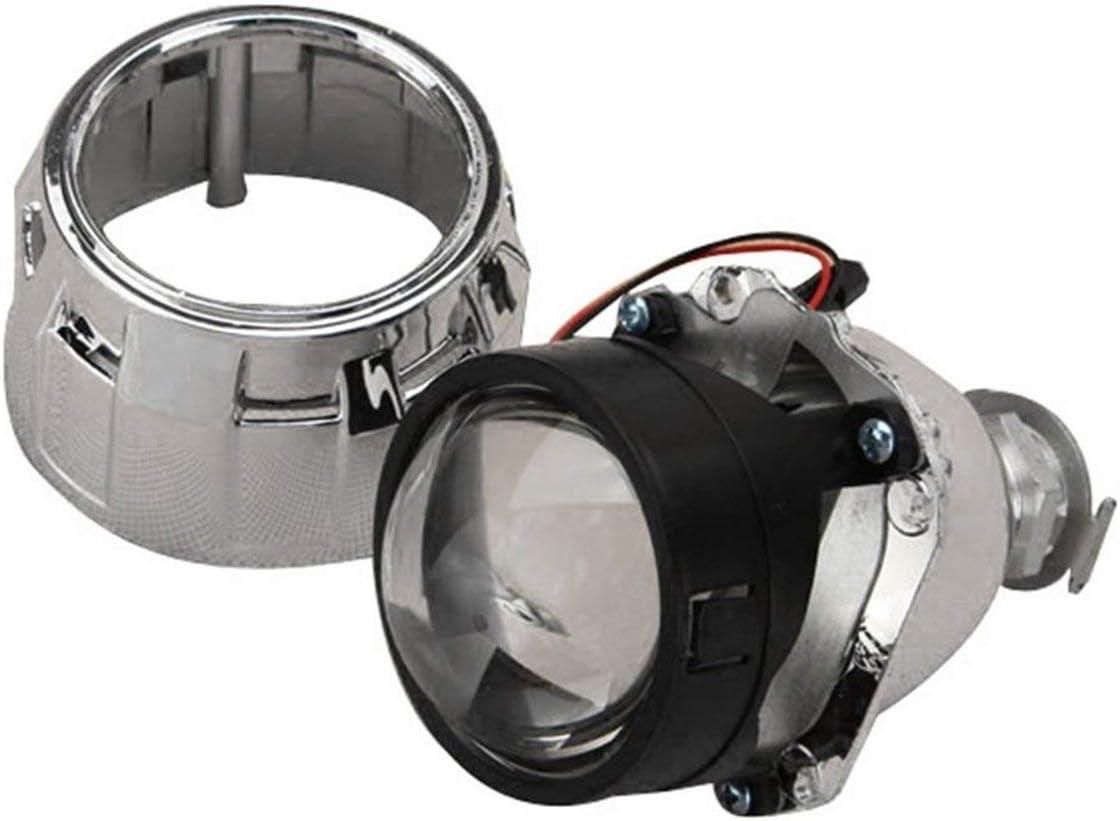 2.5 pollici Xenon Mini Bi-xeno HID Proiettore chiaro Coperchio della lente Faro frontale Personalizzato Faro H1 H4 H7 Argento