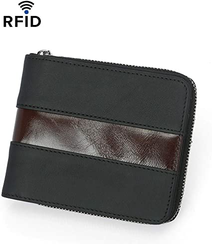 Short wallet mens fashion leather business bag