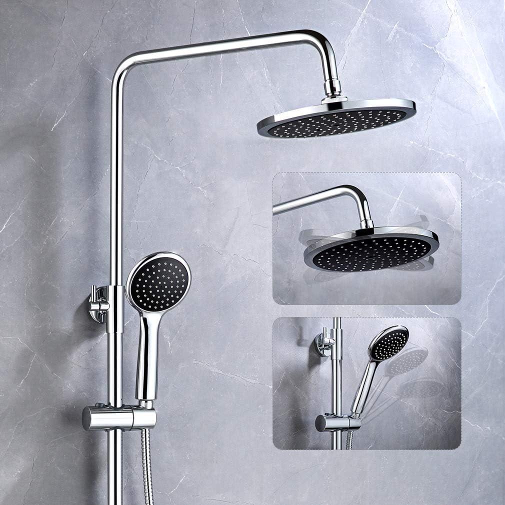 Auralum Sistema de ducha negro de 2 funciones, de ducha angular ...