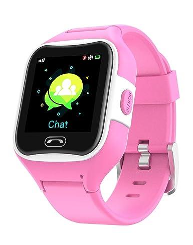 Reloj teléfono y localizador GPS para niños V2 (Rosa): Amazon.es: Relojes