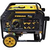 Firman H03652 4550/3650 Watt Recoil Start Gas or Propane Dual Fuel Portable Generator CARB and cETL Certified with Wheel…