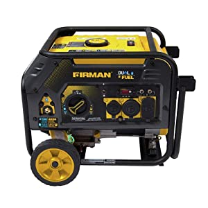 Firman H03652 3650W Recoil Start Gas Dual Fuel Gas Generator