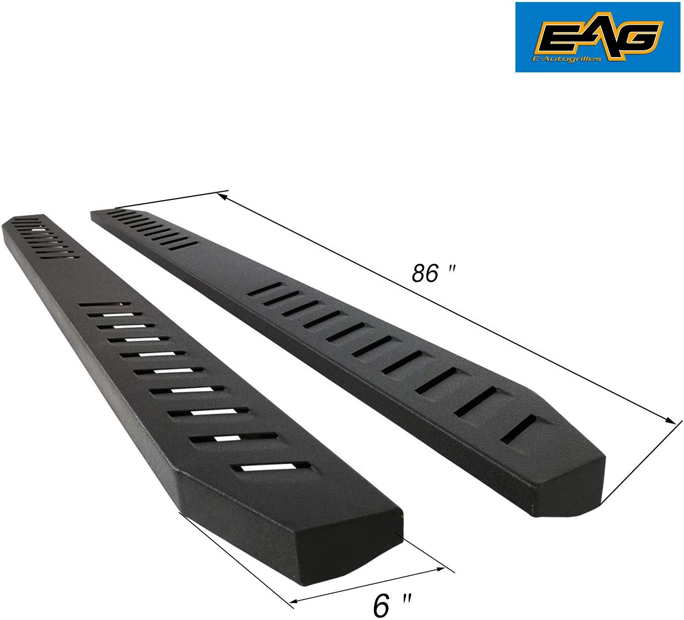 EAG 86 Raptor Running Board//Nerf Bars W//Brackets Fit for 99-16 Superduty F250//F350 Regular//Super//Crew Cab