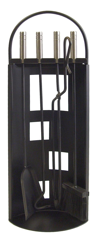 Imex El Zorro 10016 Kamin-Zubehörset, gebogenes gebogenes gebogenes Design, rostfrei, 68 x 23 x 14 cm, Schwarz 0d833a