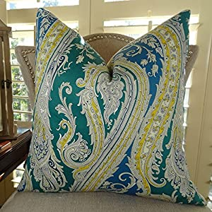 Throw Pillow Covers Made In Usa : Amazon.com: Thomas Collection Handmade in USA Luxury Throw Pillow for Couch Sofa Bed, Made in ...