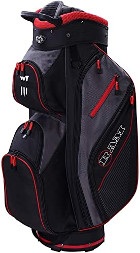 Ram Golf Lightweight Cart Bag with 14 Way Dividers Top