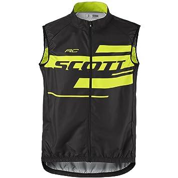 Scott RC Team 10 bike wind vest black   yellow f18a13388