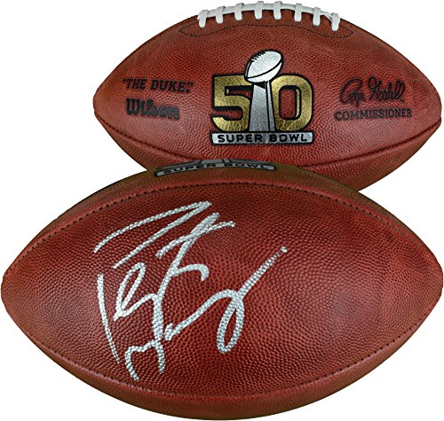 Peyton Manning Denver Broncos Autographed Super Bowl 50 Football - Fanatics Authentic Certified - Autographed (Peyton Manning Signed Authentic Football)