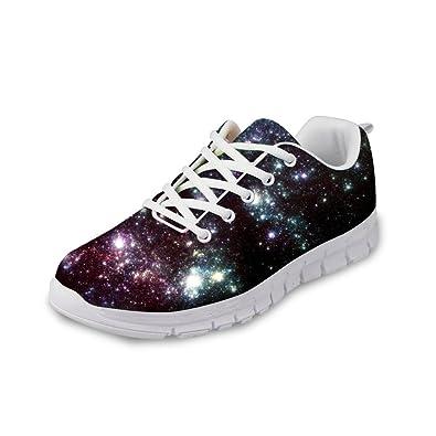 FOR U DESIGNS Women s Bendy Comfortable Casual Mesh Walking Running Shoes  Sneaker Black ... 7269ecfe1