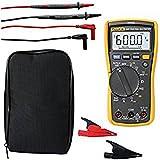 Fluke 117 True RMS Digital Multimeter KITH with Volt Alert Detector plus AC285 SureGrip Crocodile Clips and LDMC25 Case