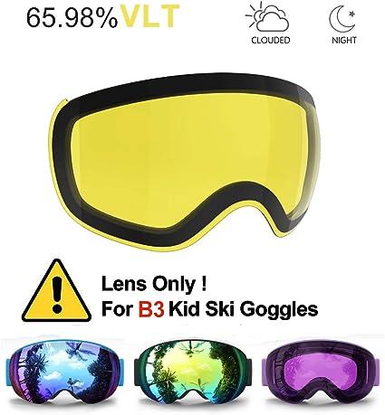 Helmet Compatible for Child Children Youth Boys Girls OTG Design Non-Slip Strap UV400 Protection HONCENMAX Kids Ski Goggles Snow Snowboard Goggles