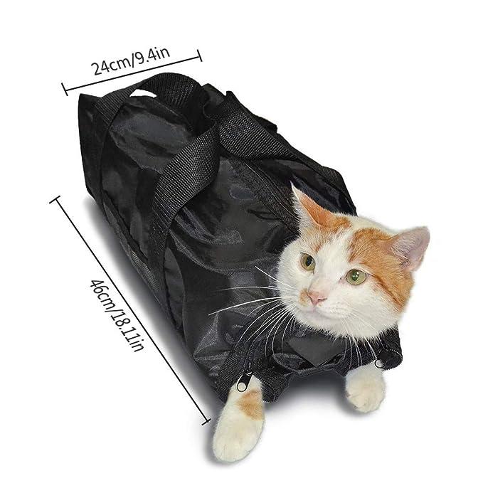 OTENGD 2PACK Bolsa de Aseo para Gatos Bolsas de sujeción ...