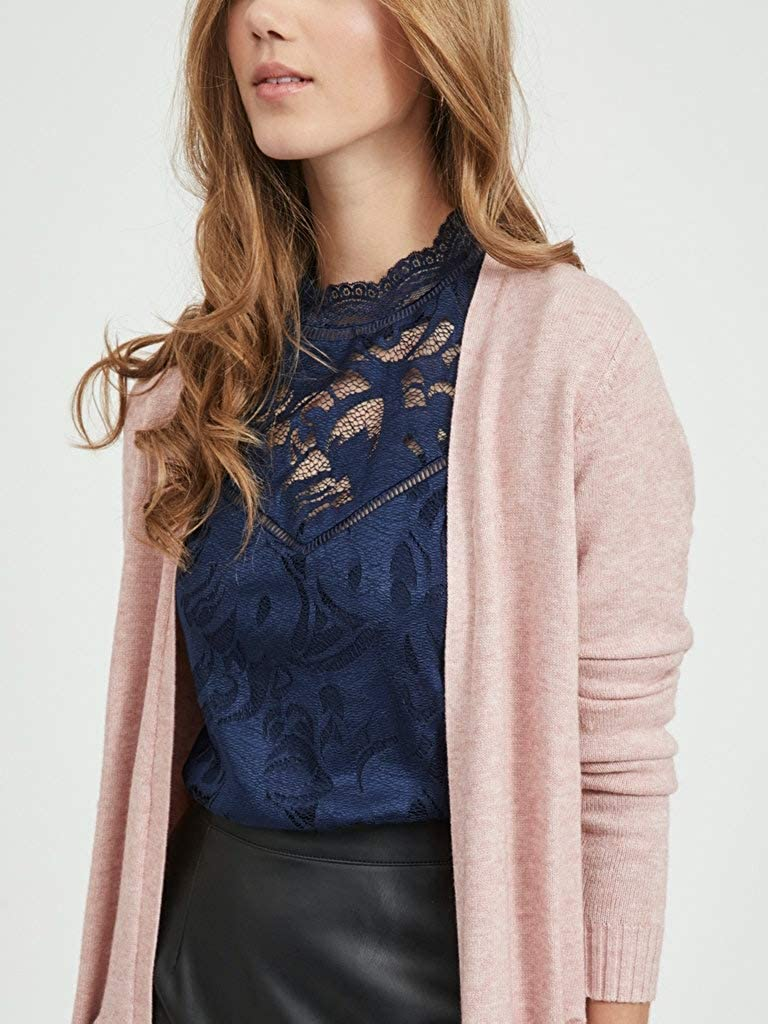 Vila Viril L//S Long Knit Cardigan-Noos Donna