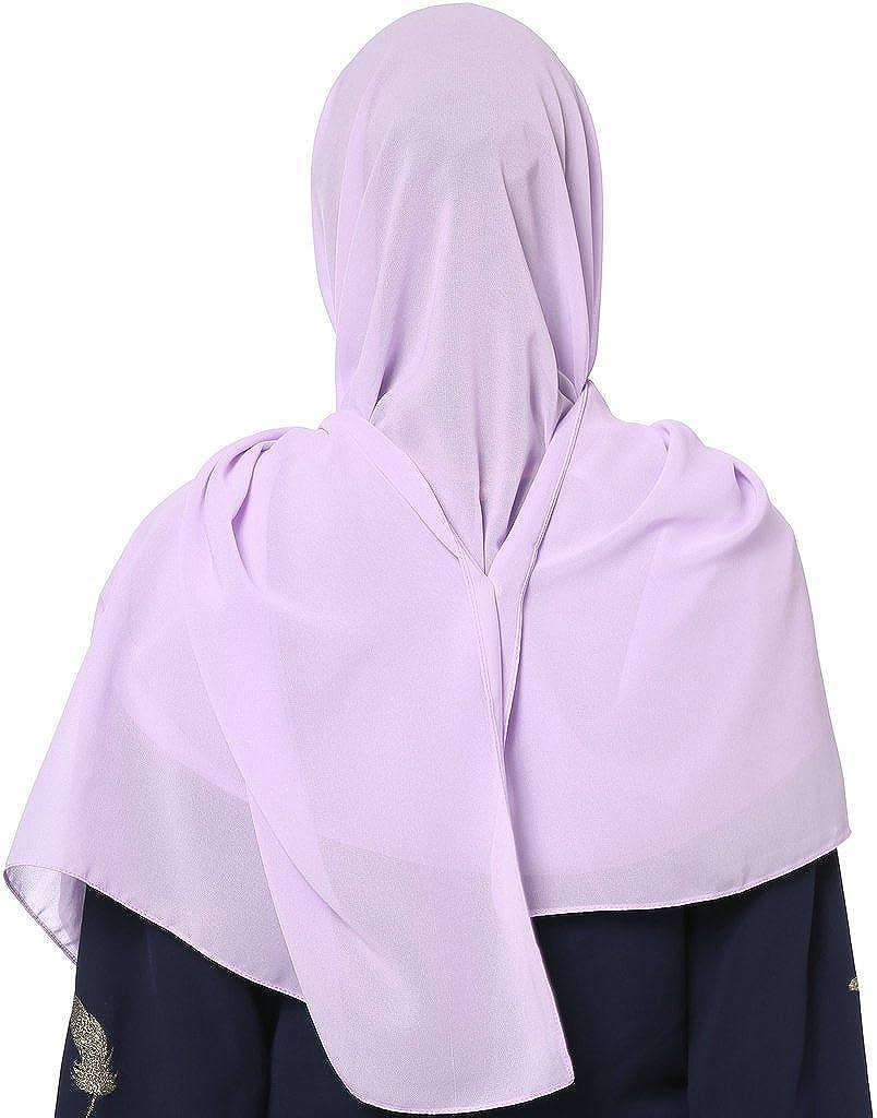 YI HENG MEI Womens Modest Muslim Islamic Soft Chiffon Solid Jersey Long Hijab Headscarf 70/×25inch