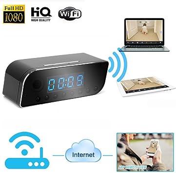 Wifi 1080P HD Clock Hidden Spy Camera Security Network Web Digital Video Record
