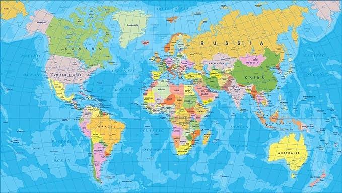 ZGGDYY Rompecabezas Adultos 1000 Piezas Mapa del Mundo Adultos Niños DIY Jigsaw Juego Decoración Mural Jigsaw Puzzle 75x50 cm: Amazon.es: Juguetes y juegos