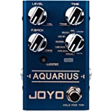JOYO R-07 Aquarius Delay Pedal Effect with Looper Effect Multi Effect Pedal with 8 Digital Delay Effects & Tap Tempo…
