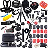 Gopro Accessories Kit for GoPro Hero 7 6 5 4 3+ 3 2 1 Hero Session 5 Black Accessory Bundle Set for Xiaomi Yi AKASO Apeman SJ4000 DBPOWER AKASO WiMiUS Rollei QUMOX Campark Action Camera Accessory