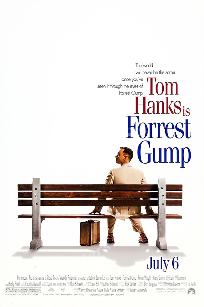 Posters USA - Forest Gump Movie Poster GLOSSY FINISH) - MOV101 (24'' x 36'' (61cm x 91.5cm))