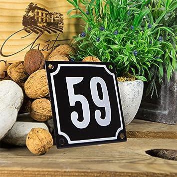 sofort lieferbar Hausnummer Schild wetterfest Zahlen 1 bis 99 verf/ügbar schwarz//wei/ß 10x10 cm W/ählen Sie Ihre Nummer Emaille Hausnummernschild 31