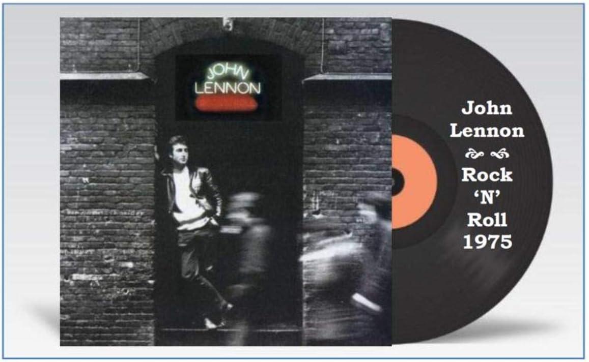 """John Lennon Rock 'N' Roll Album Cover 3""""X4"""" Flexible Fridge Magnet, High Gloss Photo Finish"""