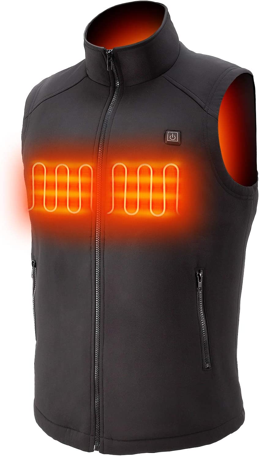 Sunbond Heating Electric Vest Heated Jacket Cold-Proof Heating Clothes Washable Four Sizes Adjustment (M) Black (L)