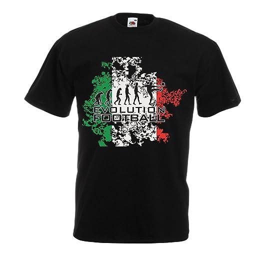 lepni.me Camisetas Hombre Evolución del Fútbol - Italia, Rusia Campeonato 2018, Copa del Mundo, Equipo de Fútbol Italiano: Amazon.es: Ropa y accesorios