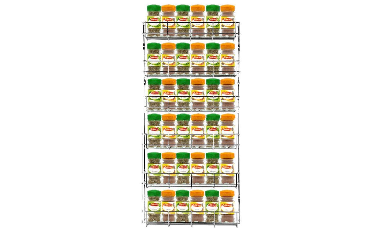 Neo 24 St/ück Chrom 3 F/ächer Platzsparende Halterung f/ür Gl/äser f/ür Wand oder K/üchenschrank