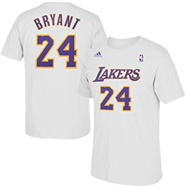 d73b3f608d9 Kobe Bryant Los Angeles Lakers White Name Number Player Tee Youth (Youth  Small)