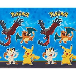 American Greetings Pokemon Plastic Table Cover, 54 x 96""