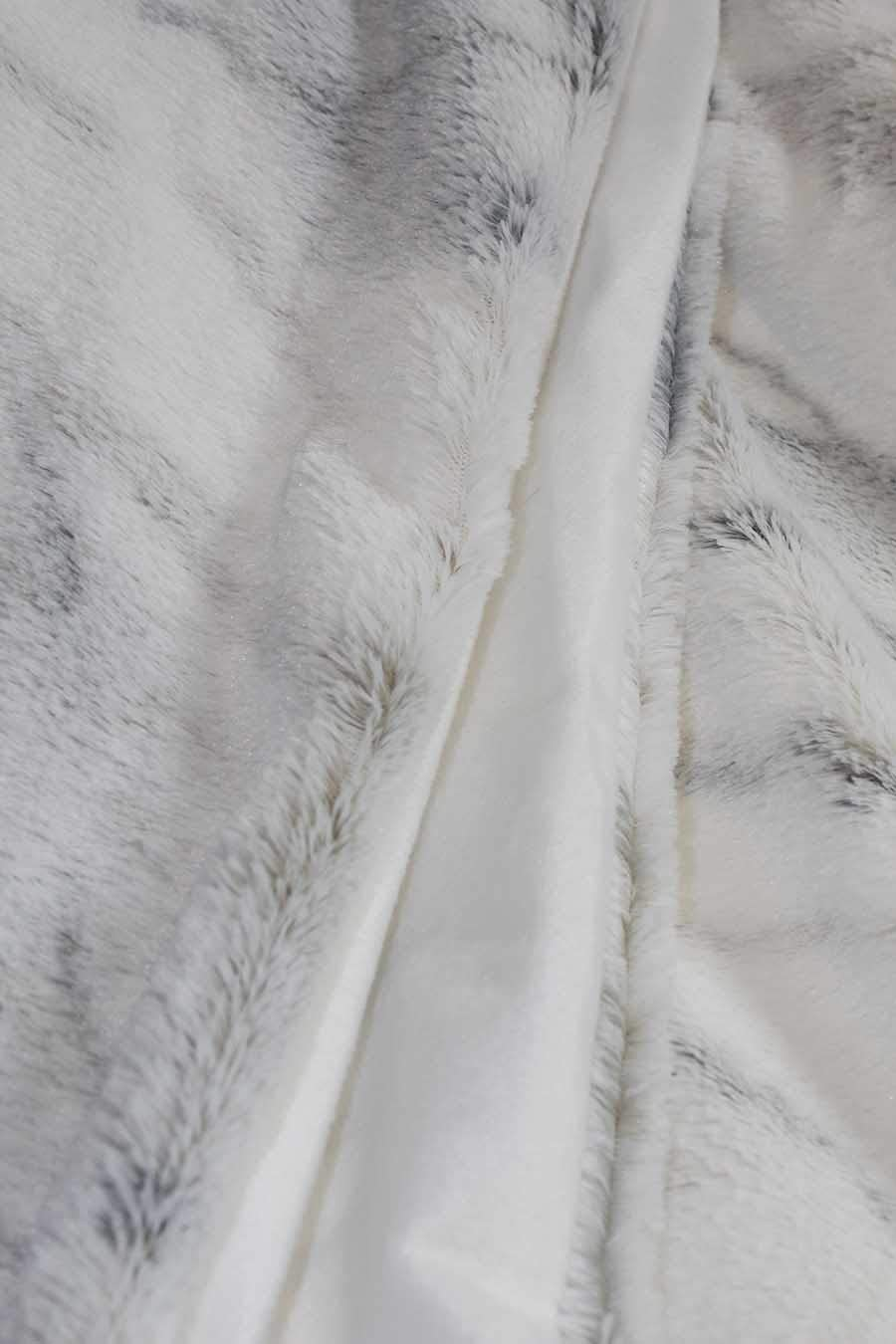 Douceur Polaire Souple Meubletmoi Plaid Blanc Motif marbr/é Gris bleut/é Polar