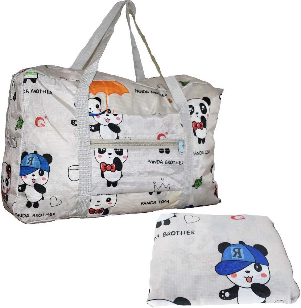Travel Luggage Duffle Bag Lightweight Portable Handbag Panda Pattern Large Capacity Waterproof Foldable Storage Tote