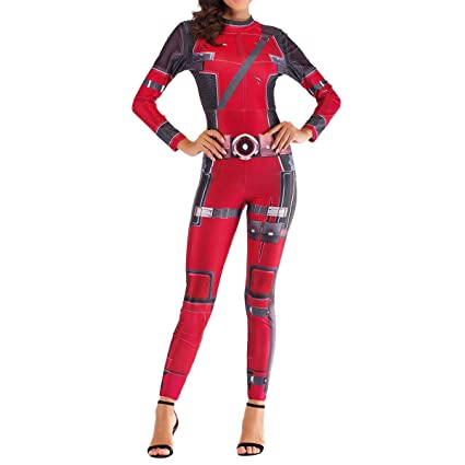 QQWE Traje de Disfraces de Deadpool de Las Mujeres de ...