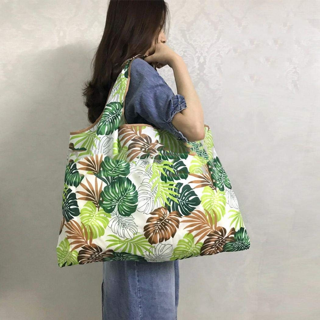 Cokil Portable Foldable Cartoon Pattern Square Environmentally Friendly Shopping Bag Reusable Grocery Bags