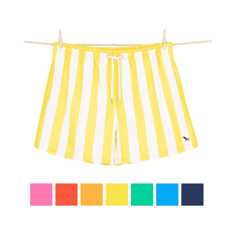 Dock & Bay Pantalones Cortos de Baño para Hombre Bañadores de Playa de Secado Rápido | Cómodos y Sueltos | Hechos de Botellas de Agua 100% Recicladas | Azul Bondi | Talle S,M,L,XL