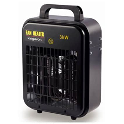 Kw industrial heater black perfect for work warehouse
