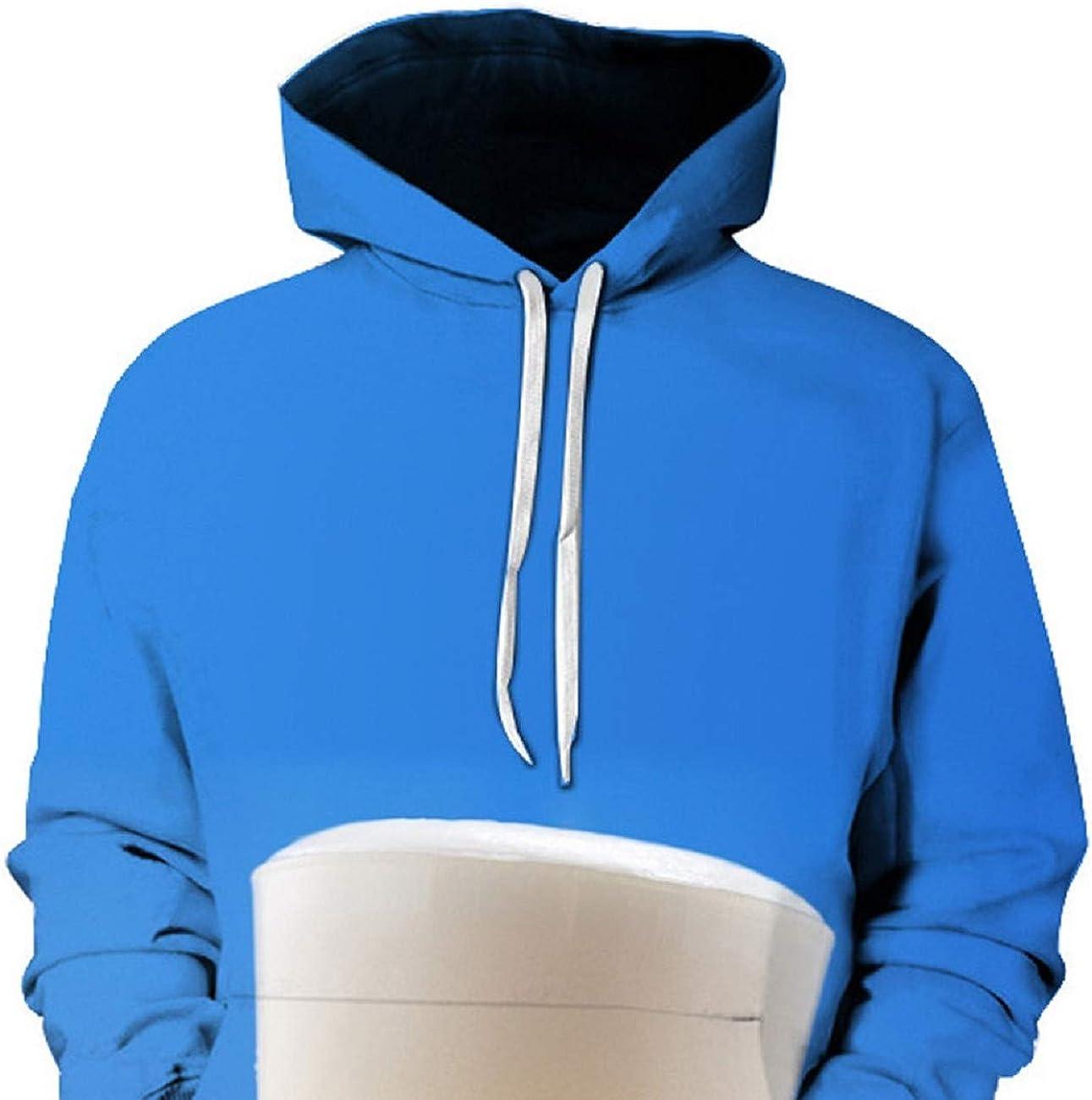 Man Casual Pure Color Hoodie Long-Sleeve Pullover Drawstring Keep Calm and Drink Beer Hoodie Sweatshirt