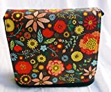 New Fiesta Flowers Brown Messenger Bag By Gifts and Beads