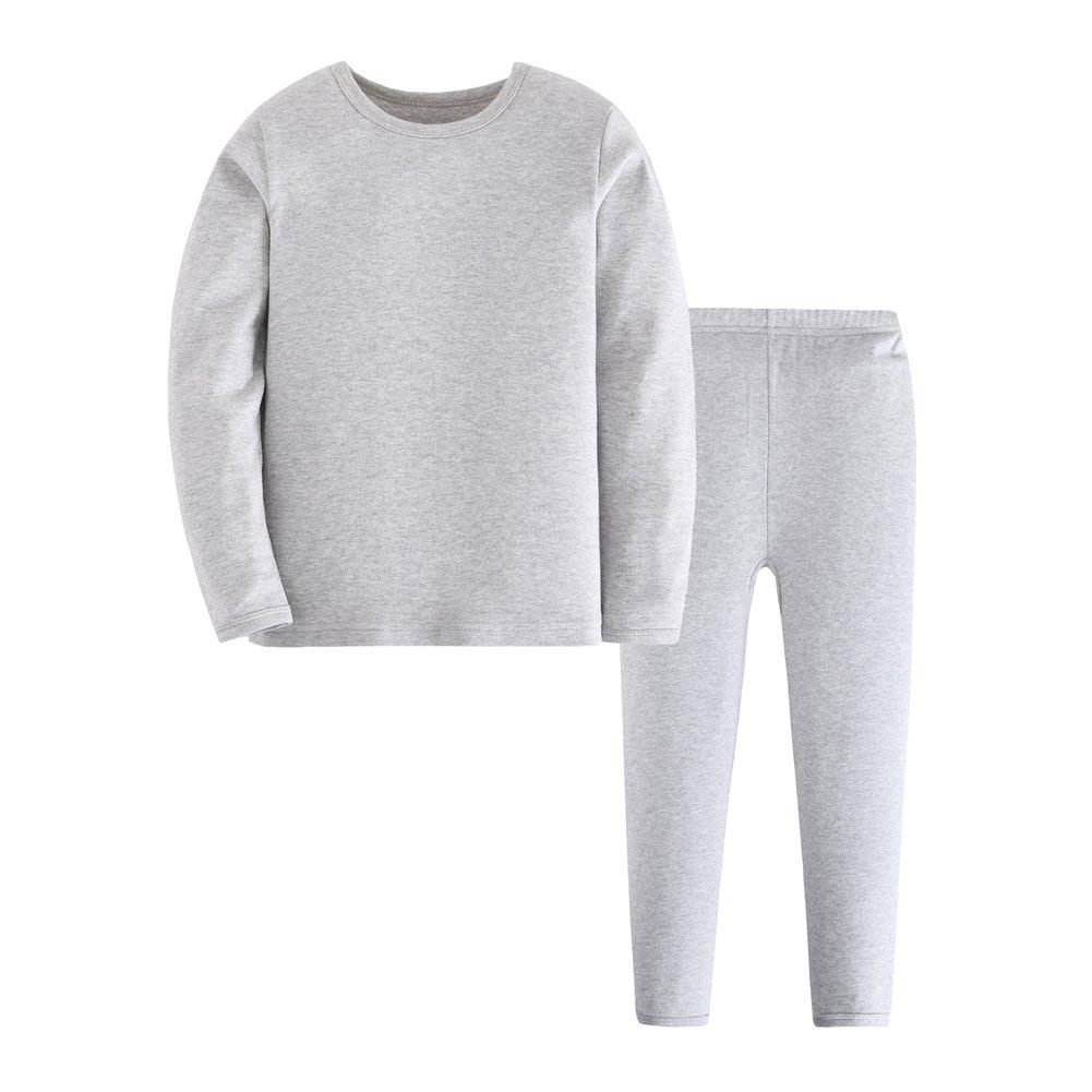 Tortor 1Bacha Kid Boy Girl Solid Thermal Underwear Set Long John Top and Bottom 60158