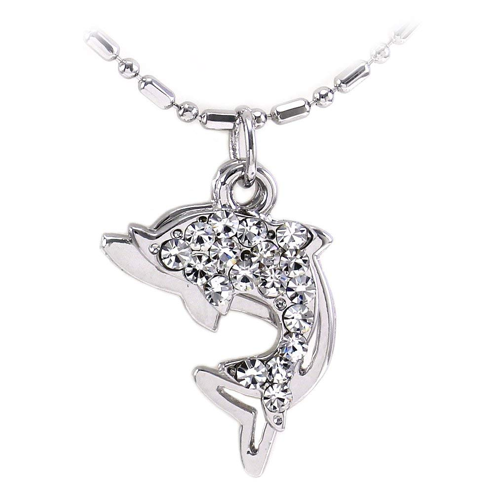 Soulbreezecollection Dolphin Anklet Nautical Fish Sea Animal Lover Ankle Bracelet Charm for Women Clear Rhinestones