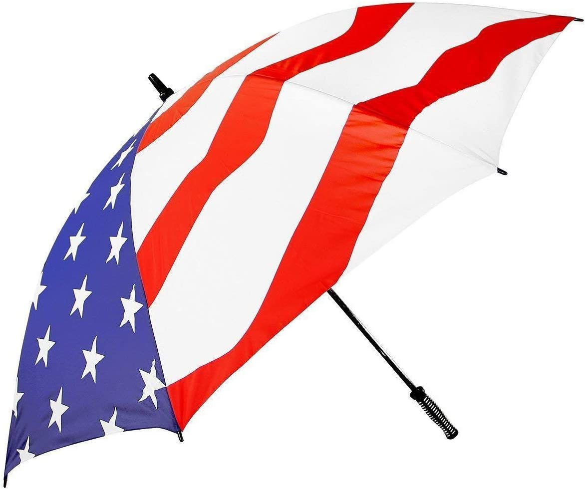 One Size Xelement USA Flag 8-Panel 51in Umbrella