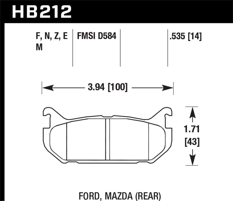 Hawk Performance HB212N.535 HP Plus Brake Pad