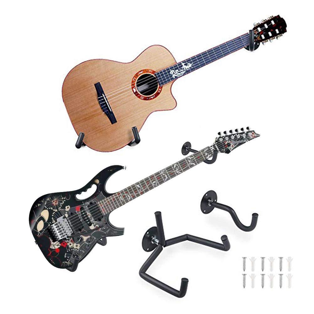 Inclinaci/ón de la suspensi/ón de guitarra en /ángulo montaje de pared para guitarra Soporte de pared para guitarra horizontal Soporte para bajo Estante para Ukelele soporte de exhibici/ón de guitarra